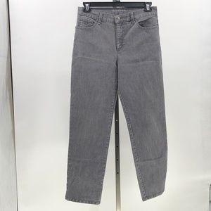 Gloria Vanderbilt jeans Amanda gray wash sz 12 S